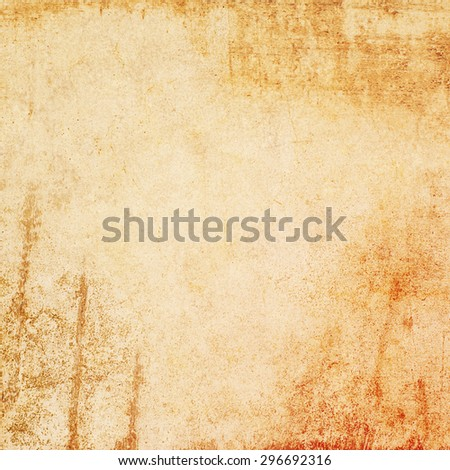 Grunge orange texture or background with Dirty or aging. - stock photo