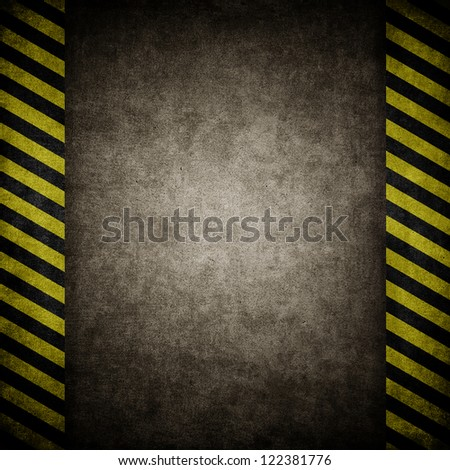 grunge paper Under Construction - stock photo