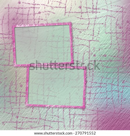 Grunge papers design in scrapbooking style with frame - stock photo