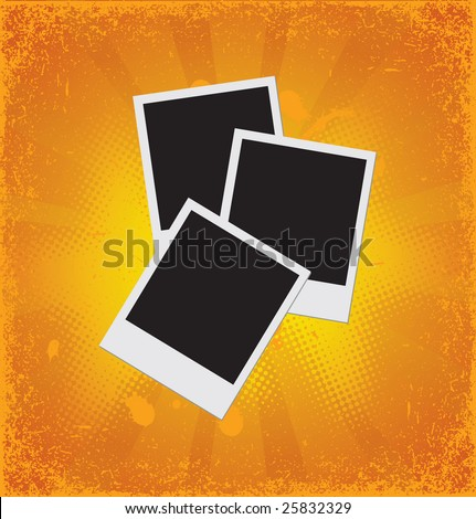 Grunge photo frames. Look the vector version of this illustration in my portfolio.