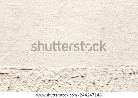 Grunge plaster cement or concrete wall texture white and gray color - stock photo