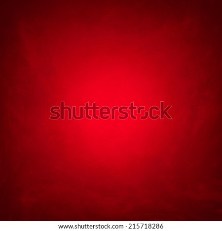 Grunge red background, vignetting corners, light center - stock photo