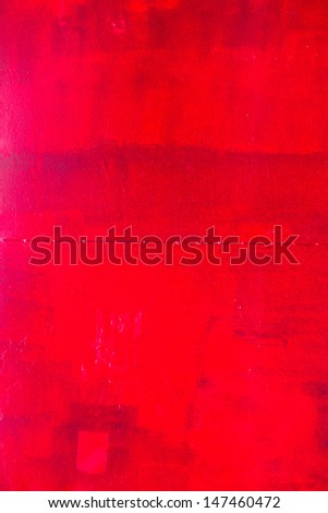 Grunge red color rust and paint texture background - stock photo
