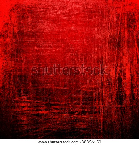 grunge red paint background - stock photo