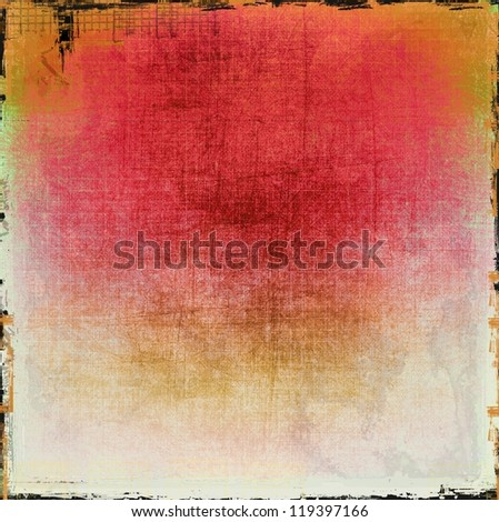 Grunge red texture or background - stock photo