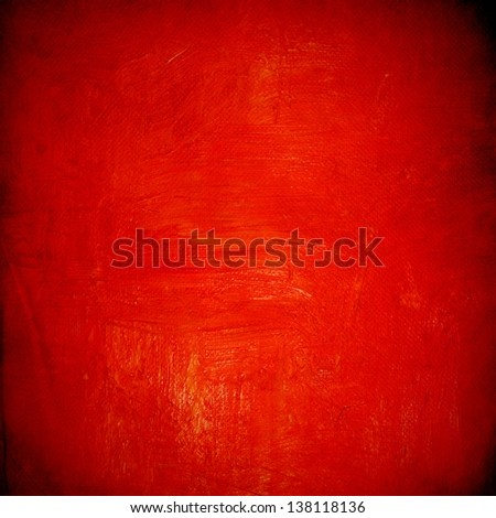Grunge red wall for background - stock photo