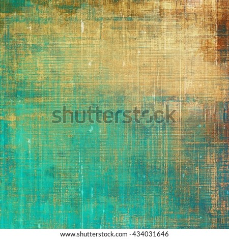 Grunge retro composition, textured vintage background. With different color patterns: yellow (beige); brown; green; blue; cyan - stock photo