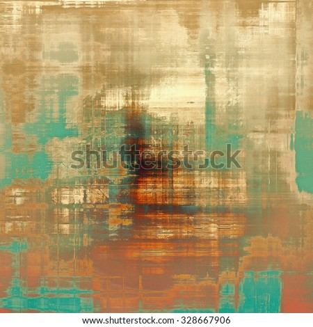 Grunge retro texture, elegant old-style background. With different color patterns: yellow (beige); brown; green; cyan - stock photo