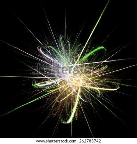 Grunge retro vintage colorful star fractal background. - stock photo