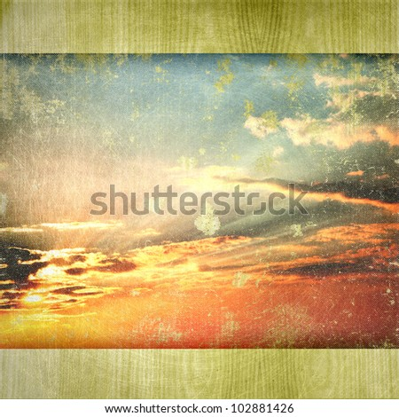 grunge retro vintage paper texture,  abstract nature background - stock photo