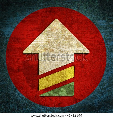 grunge retro vintage rusty old paper background - stock photo