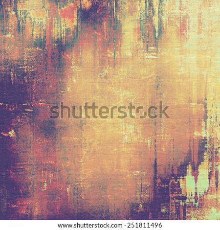 Grunge retro vintage texture, old background. With different color patterns: yellow (beige); brown; red (orange); purple (violet) - stock photo