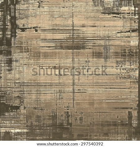 Grunge retro vintage textured background. With different color patterns: yellow (beige); brown; gray; black - stock photo