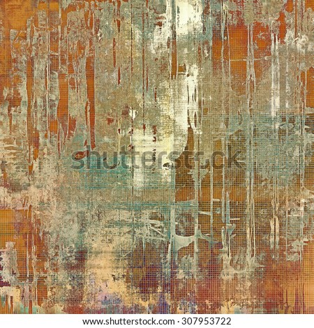 Grunge retro vintage textured background. With different color patterns: yellow (beige); brown; red (orange); cyan - stock photo
