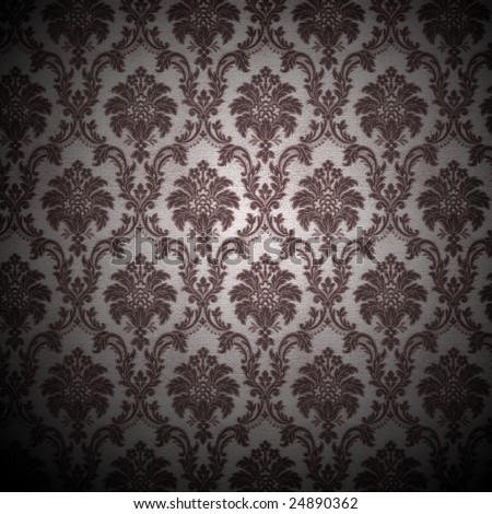 grunge retro wallpaper background - square format - stock photo