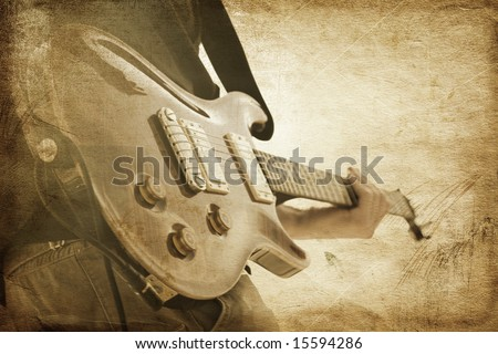 grunge rock - stock photo