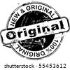 Grunge rubber stamp with the word original - stock vector