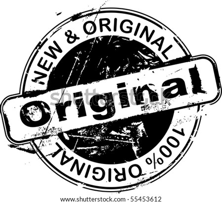 Grunge rubber stamp with the word original - stock photo