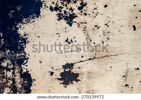 Grunge rusted metal plate - stock photo