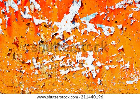 Grunge rusty metal wall texture - stock photo