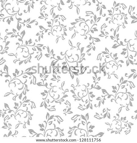 Grunge seamless wallpaper pattern. Flower illustration background (vector format also available in my portfolio) - stock photo
