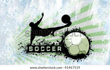 Grunge Soccer background - stock photo