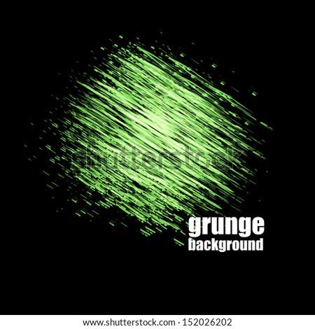 Grunge speech bubble illustration - stock photo