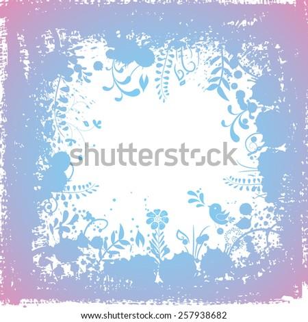 Grunge spring background. - stock photo