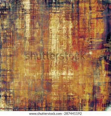 Grunge stained texture, distressed background with space for text or image. With different color patterns: yellow (beige); brown; red (orange); purple (violet) - stock photo