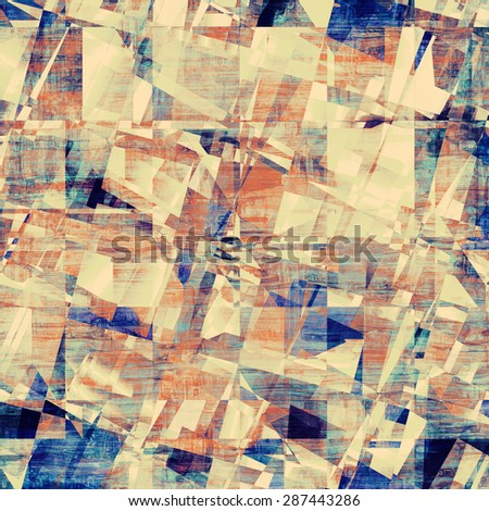 Grunge stained texture, distressed background with space for text or image. With different color patterns: yellow (beige); brown; gray; blue - stock photo