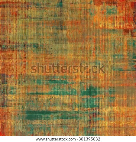 Grunge stained texture, distressed background with space for text or image. With different color patterns: yellow (beige); brown; green; red (orange) - stock photo