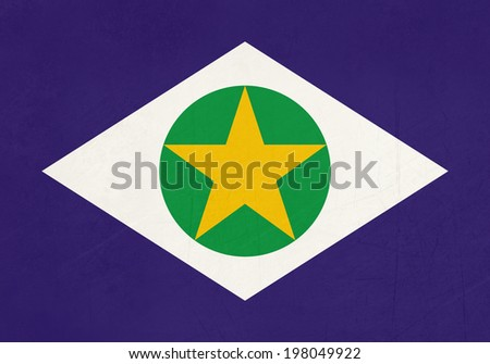 Grunge state flag of Mato Grosso in Brazil.