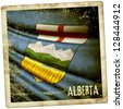 Grunge sticker of Alberta (Canada) - stock photo