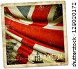 Grunge sticker of United Kingdom - stock photo