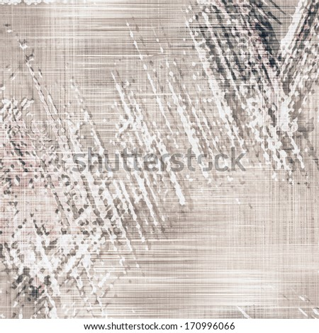 Grunge striped and stained abstract background in white, black, beige colors - stock photo