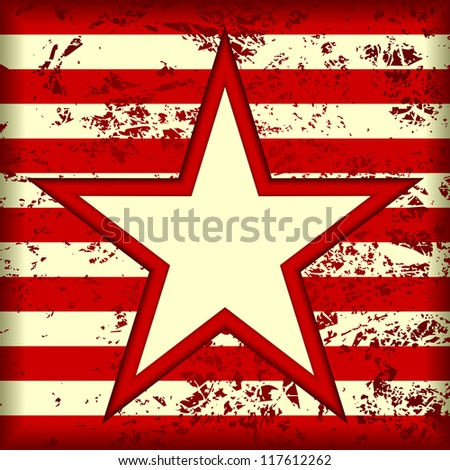 Grunge striped background. In the center background is a star. EPS version is available as ID 107670815. - stock photo