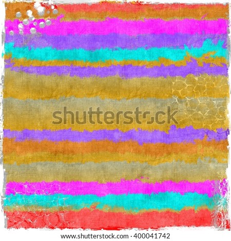Grunge striped colorful texture background. Red, yellow, magenta and violet. - stock photo