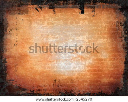 Grunge style background - brick wall effect - stock photo