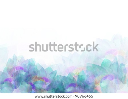 grunge style soft floral background for your designs - stock photo