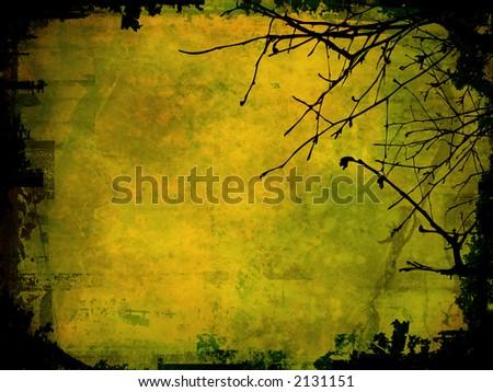 Grunge style winter background - stock photo