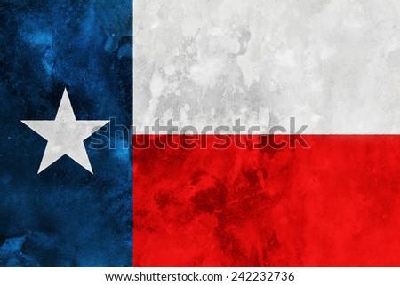 Grunge stylized flag of Texas State - stock photo