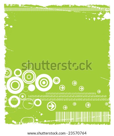 Grunge Tech Background Available in Green(vector+JPG), Blue(JPG only) and Black(JPG only). - stock photo