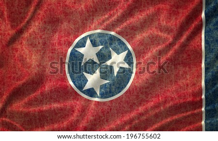 Grunge Tennessee state Flag - stock photo