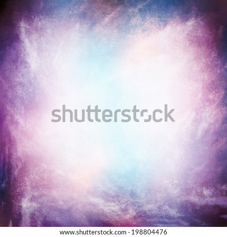 Grunge texture background,  abstract sky and fog with a purple to blue gradient. - stock photo