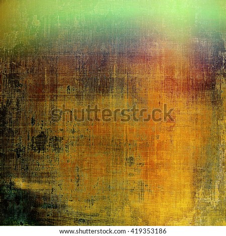 Grunge texture, detailed macro closeup, vintage composition. With different color patterns: yellow (beige); brown; red (orange); green; gray - stock photo