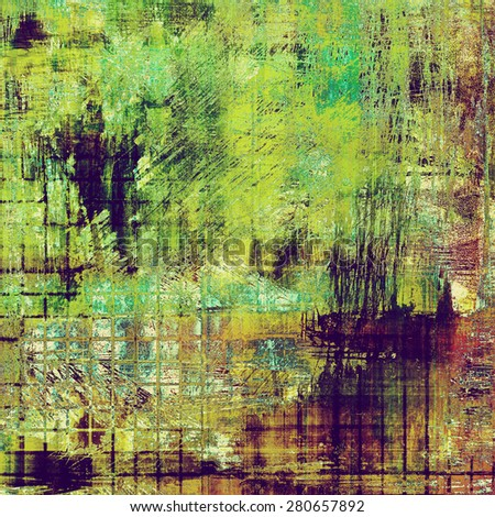 Grunge texture, distressed background. With different color patterns: brown; purple (violet); green; cyan - stock photo