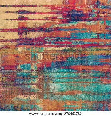 Grunge texture, distressed background. With different color patterns: brown; red (orange); pink; blue - stock photo
