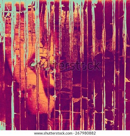 Grunge texture, distressed background. With different color patterns: cyan; purple (violet); red (orange); pink - stock photo
