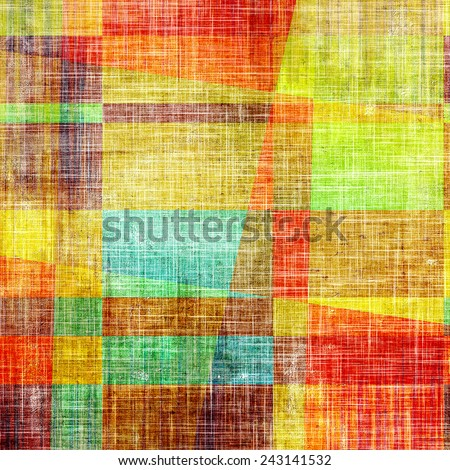 Grunge texture, distressed background. With different color patterns: green; brown; blue; red (orange); yellow (beige) - stock photo