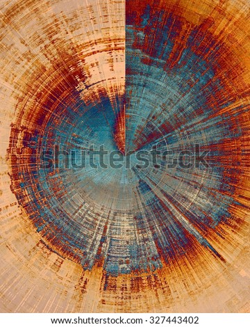Grunge texture, may be used as background. With different color patterns: yellow (beige); brown; blue; red (orange) - stock photo